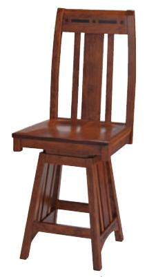 Aspen Swivel Barstool by Simply Amish at Becker Furniture