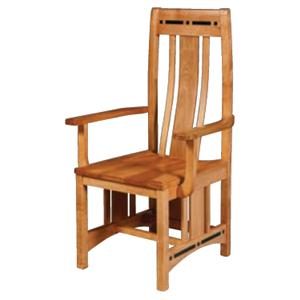 Simply Amish Aspen Wood Seat Aspen Chair with Lower Back
