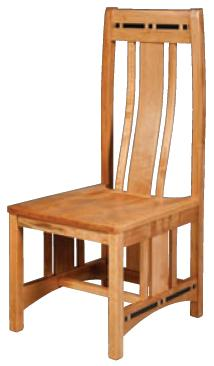 Aspen Wood Seat Aspen Side Chair with Lower Back by Simply Amish at Becker Furniture