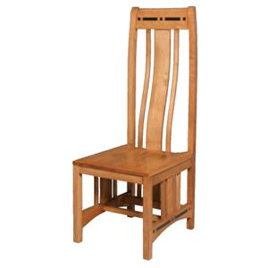 Simply Amish Aspen Wood Seat Aspen Side Chair