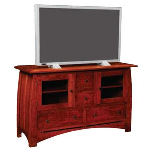 Large TV Stand with Walnut Inlay