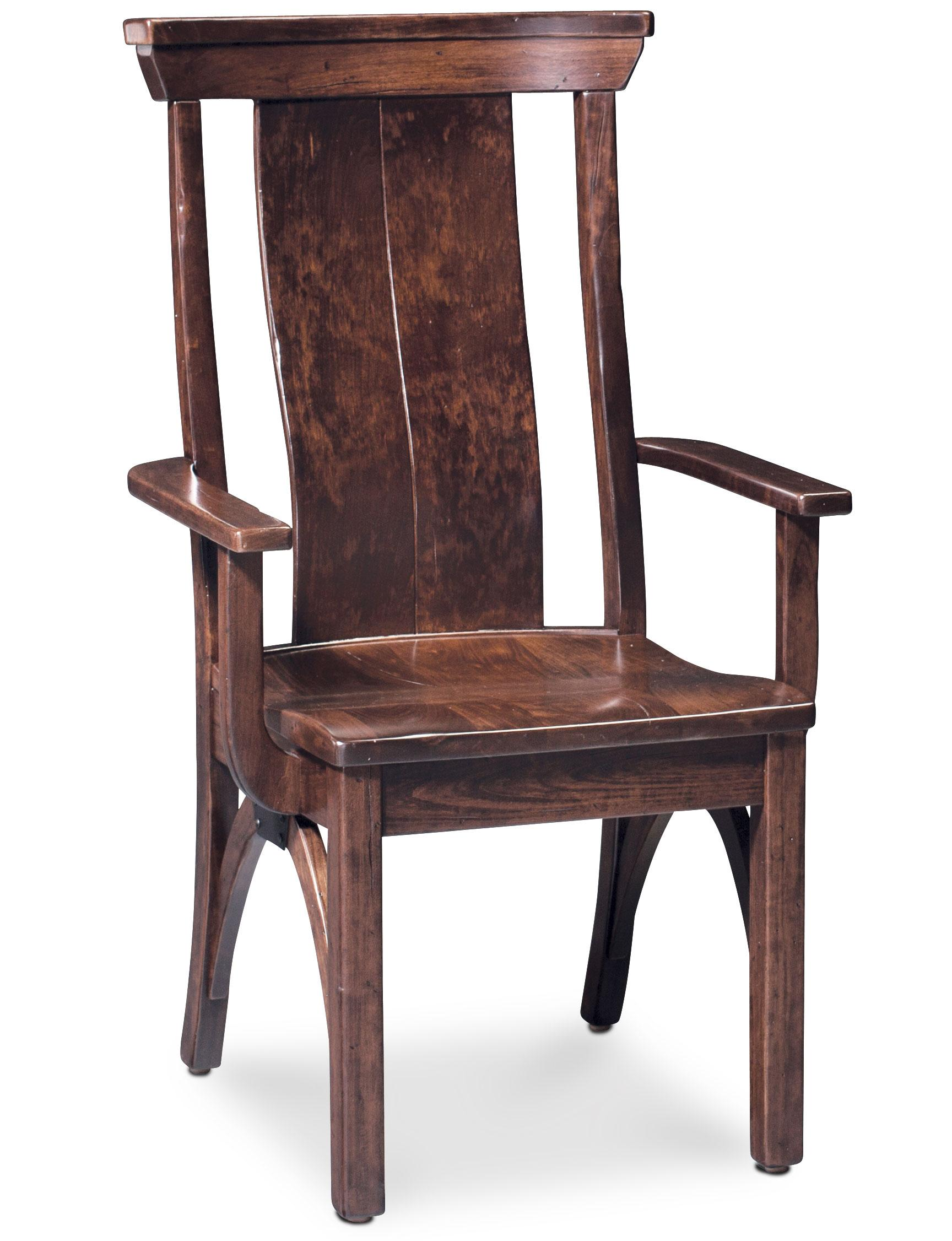 B and O Railroad Trestle Bridge Arm Chair by Simply Amish at Becker Furniture