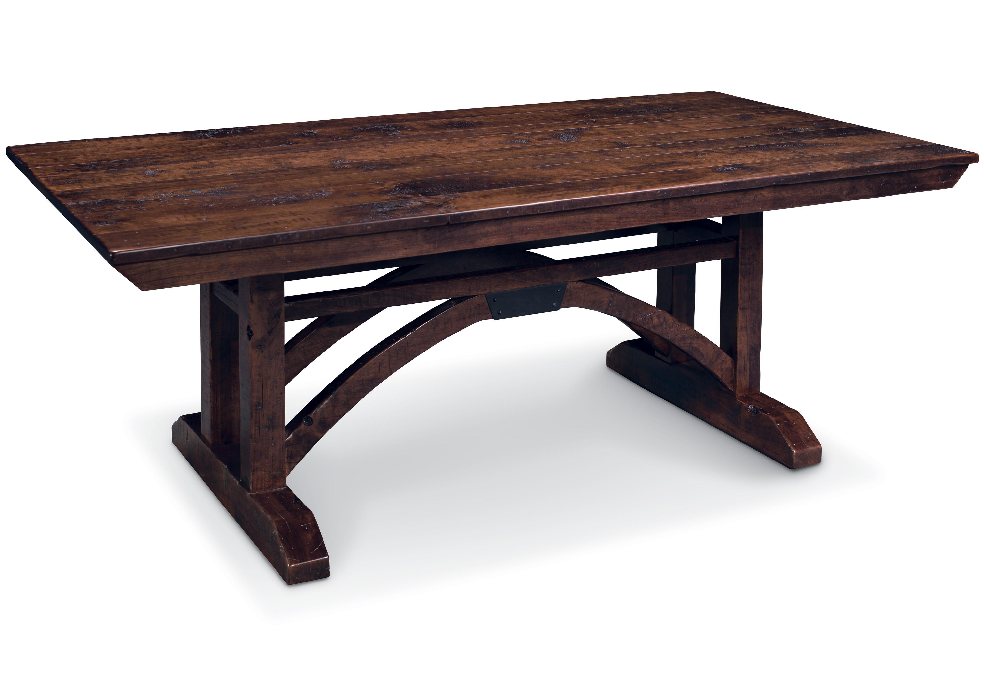 B and O Railroad Trestle Bridge Trestle Table by Simply Amish at O'Dunk & O'Bright Furniture