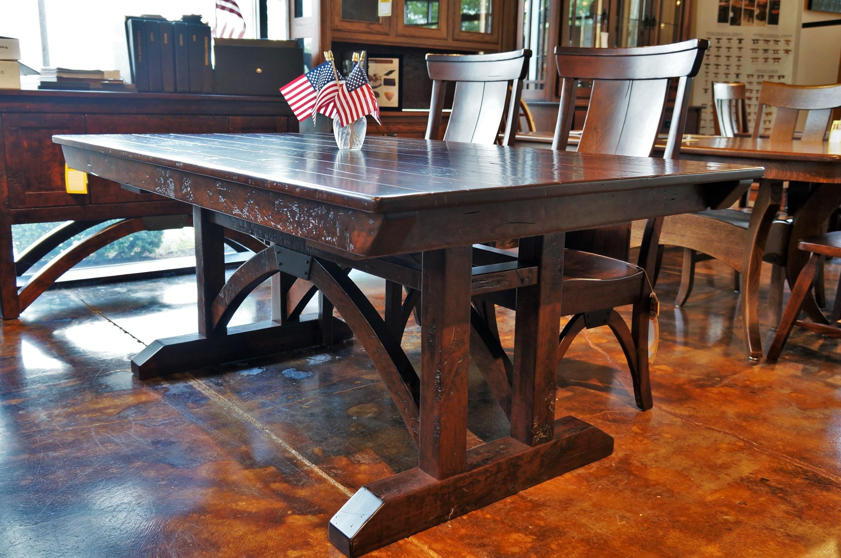B and O Railroad Trestle Bridge Trestle Table by Simply Amish at Mueller Furniture