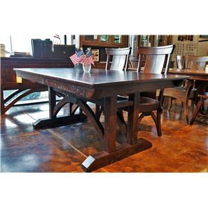 Trestle Bridge Table with Arched Trestle