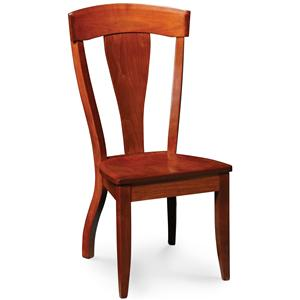 Dining Side Chair w/ Wood Seat