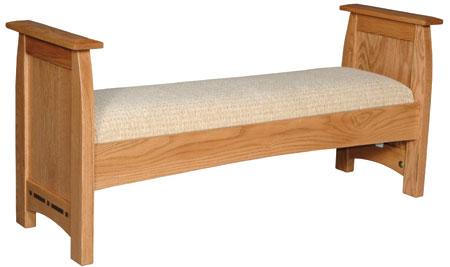 Aspen Santa Fe Bench by Simply Amish at Becker Furniture