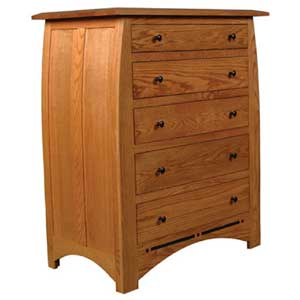 Simply Amish Aspen 5-Drawer Chest