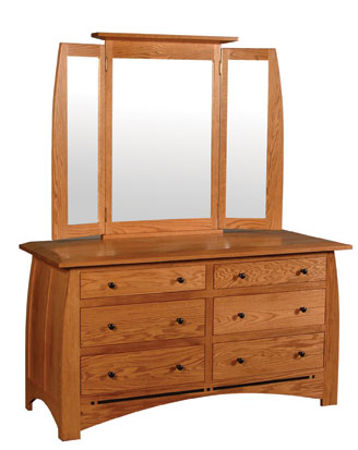 Aspen 6 Drawer Dresser and  Mirror by Simply Amish at Becker Furniture