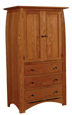 Aspen 3-Drawer Wardrobe by Simply Amish at Becker Furniture