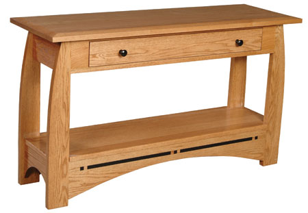 Aspen Drawer Sofa Table by Simply Amish at Mueller Furniture