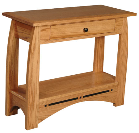 Aspen Drawer Console Table by Simply Amish at Mueller Furniture