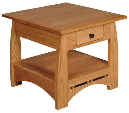 Aspen Drawer End Table by Simply Amish at Mueller Furniture
