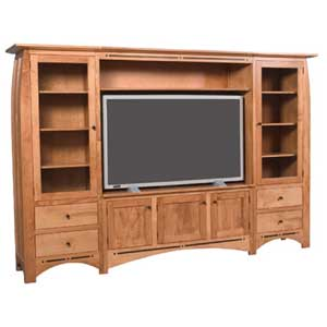 Simply Amish Aspen Wall Unit Entertainment Center