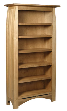 Aspen Tall Bookcase by Simply Amish at Mueller Furniture
