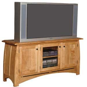TV Stand with Walnut Inlay