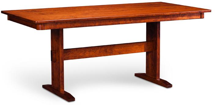Express Shenendoah Trestle II Table by Simply Amish at Mueller Furniture