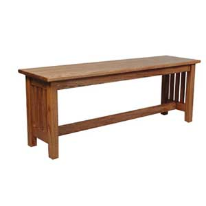 Simply Amish Mission Amish Bench