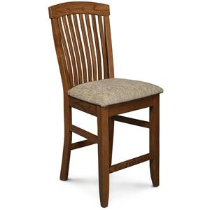 """30"""" Stationary Bar Stool w/ Sculpted Seat"""