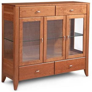 Simply Amish Justine Dining Cabinet with Plain Glass Doors