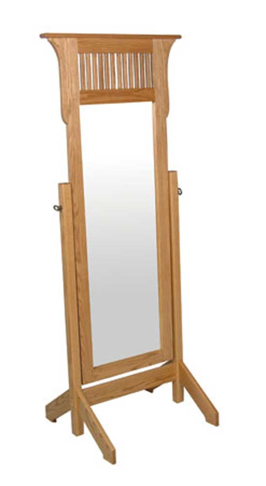 Prairie Mission Cheval Mirror by Simply Amish at Becker Furniture