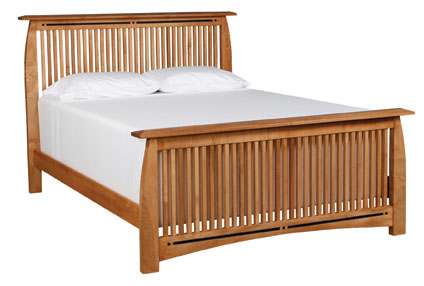 Aspen King Spindle Bed by Simply Amish at Becker Furniture