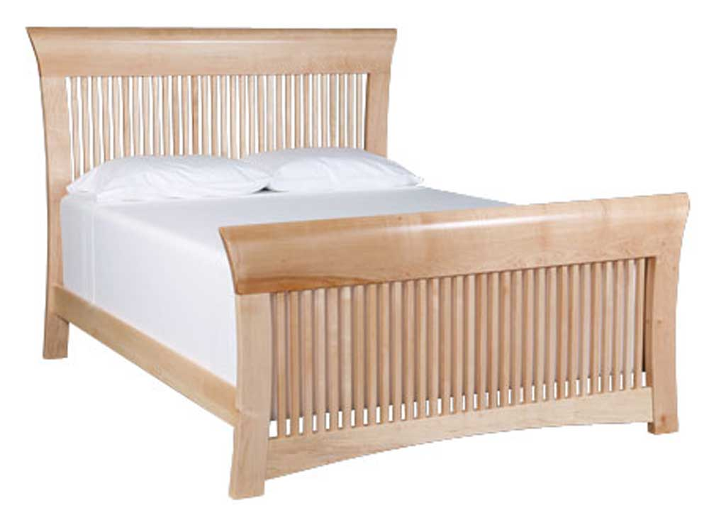 Loft California King Spindle Bed by Simply Amish at Mueller Furniture