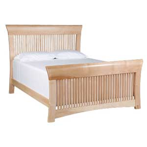 Simply Amish Loft King Spindle Bed