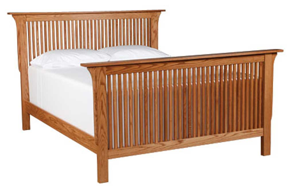Prairie Mission Twin Prairie Mission Bed by Simply Amish at Mueller Furniture