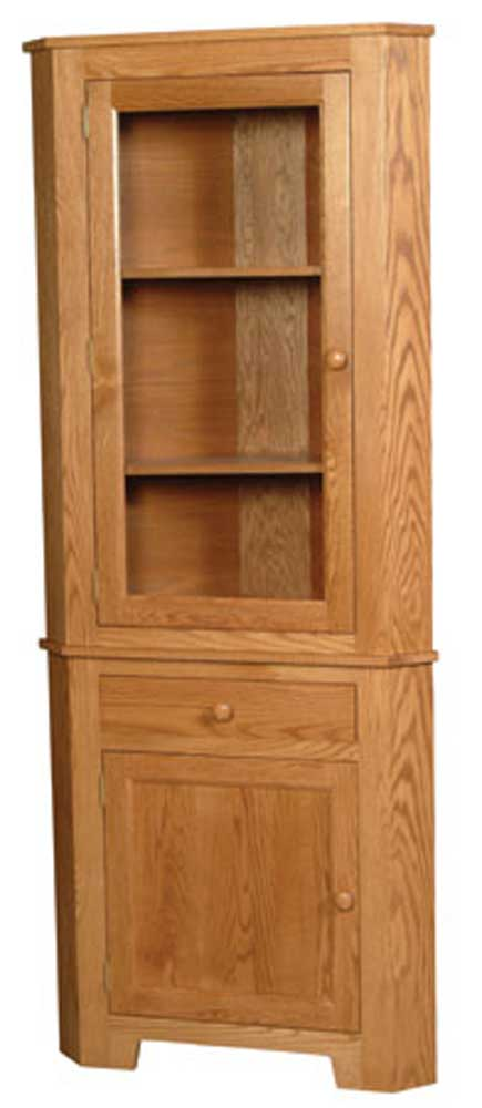 Shaker Amish 1-Door Closed Corner Hutch by Simply Amish at Mueller Furniture