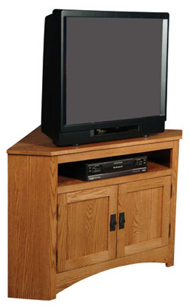 Prairie Mission Open Corner TV Stand by Simply Amish at Mueller Furniture