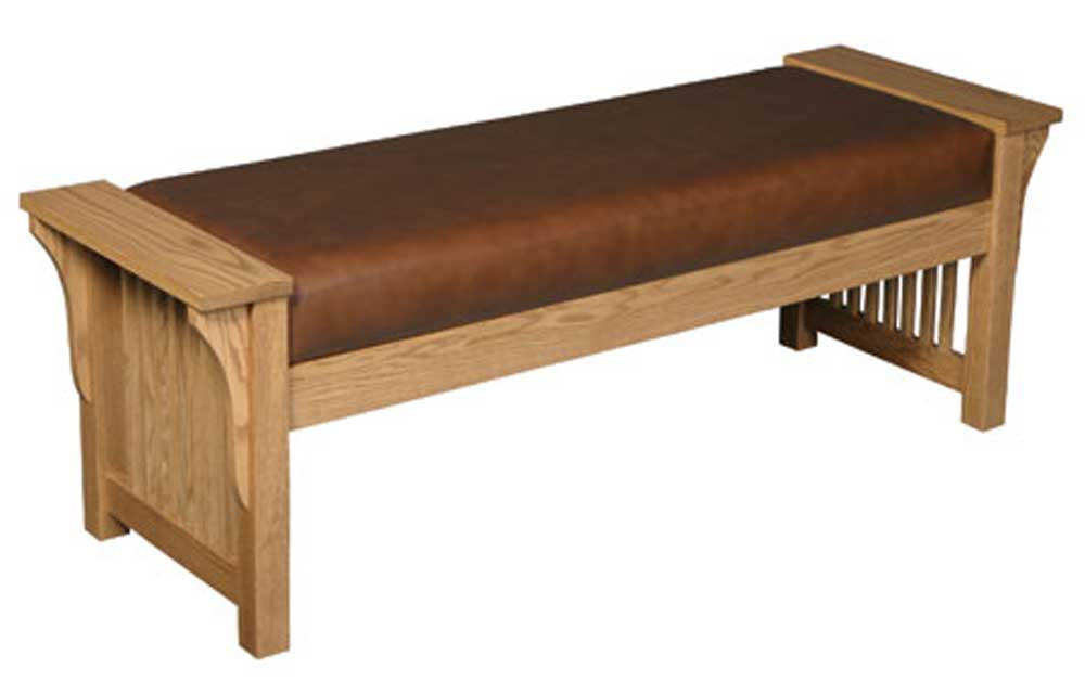 Prairie Mission Mission Bench by Simply Amish at Mueller Furniture