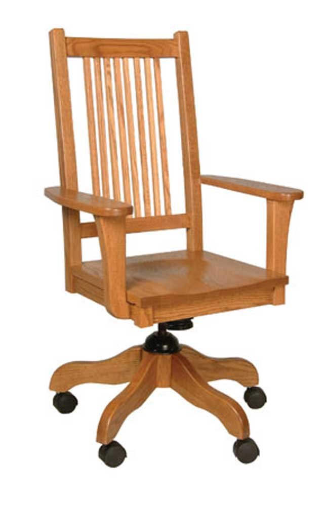 Prairie Mission Desk Chair by Simply Amish at Mueller Furniture