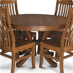 Round Pedestal Table with 2 Leaves