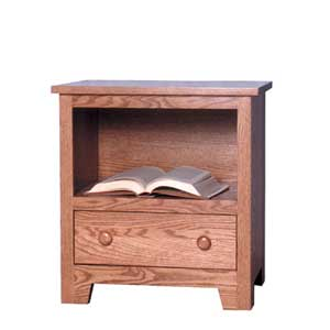 Simply Amish Shaker Amish Nightstand with Opening