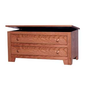 Simply Amish Shaker Amish Blanket Chest with False Fronts