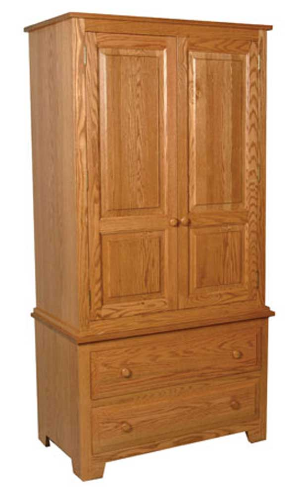 Homestead Amish Armoire on Chest by Simply Amish at Mueller Furniture