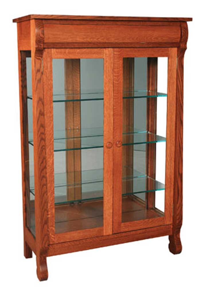 Empire Display Cabinet by Simply Amish at Mueller Furniture