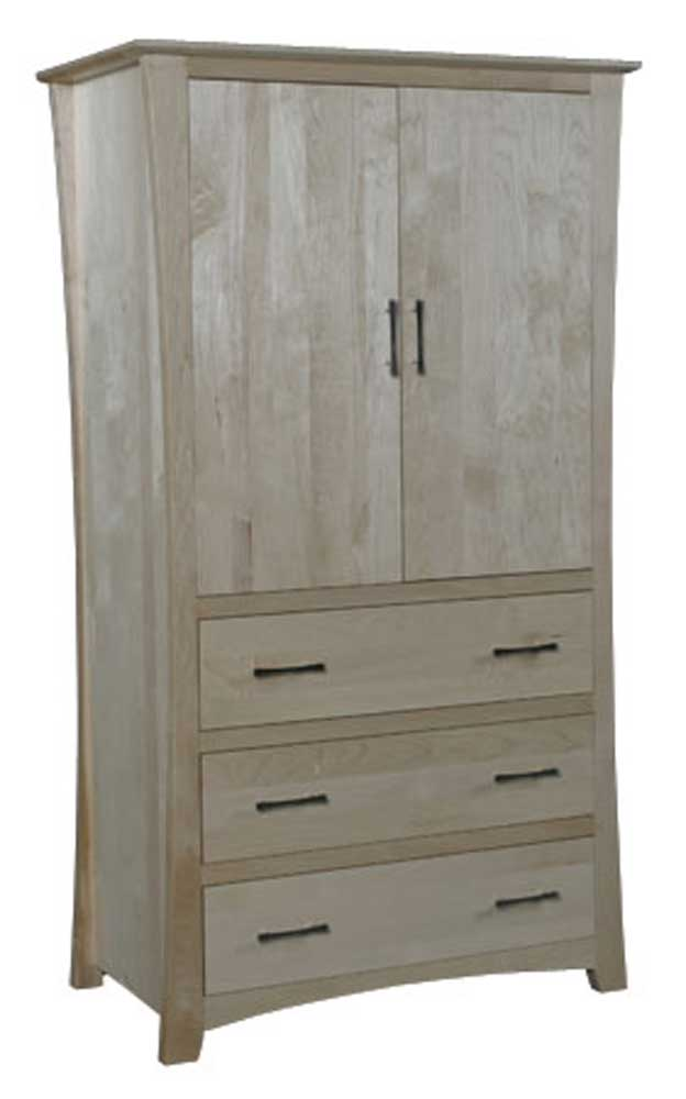 Loft 3-Drawer Wardrode by Simply Amish at Mueller Furniture