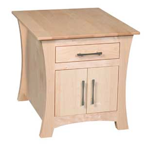 Simply Amish Loft Cabinet End Table