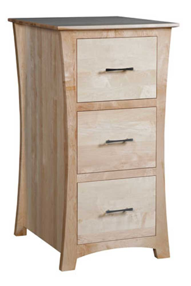 Loft 3-Drawer File Cabinet by Simply Amish at Mueller Furniture