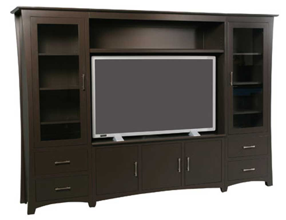 Loft Wall Unit Entertainment Center by Simply Amish at Mueller Furniture