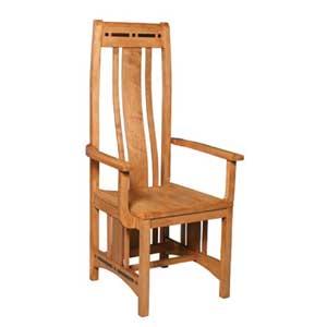 Simply Amish Aspen Wood Seat Aspen Arm Chair