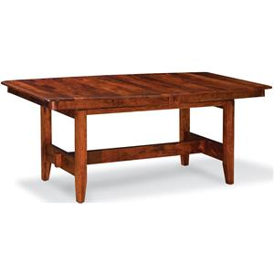 Trestle Table with 4 Leaves