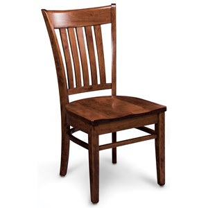 Kaskaskia Solid Wood Side Chair with Wood Seat