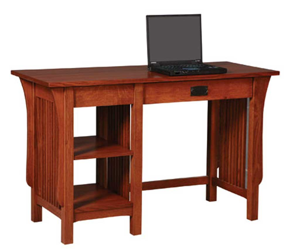 Prairie Mission 2-Shelf Writing Table by Simply Amish at Mueller Furniture