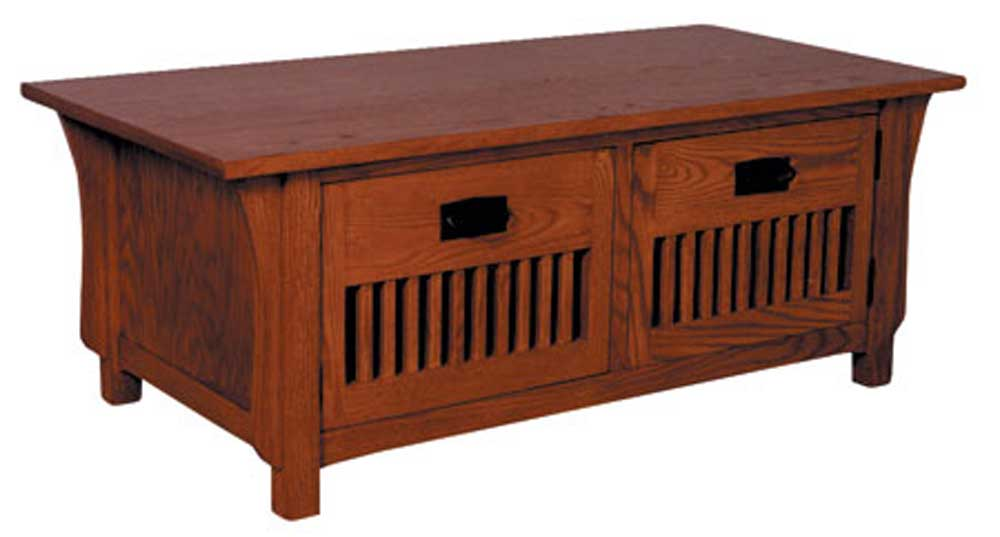 Prairie Mission Door Coffee Table by Simply Amish at Mueller Furniture