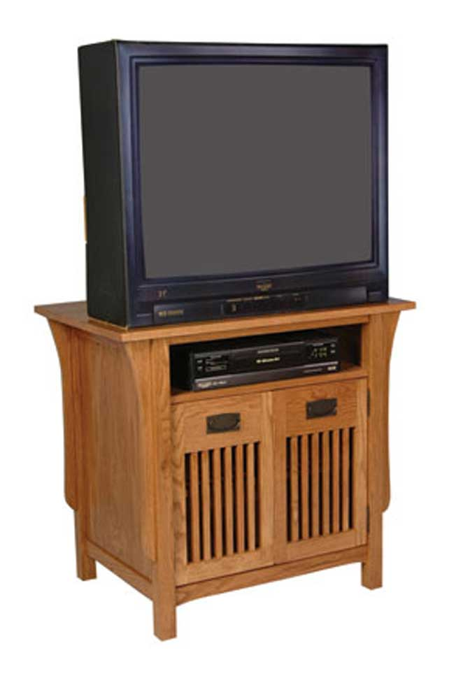 Prairie Mission TV Stand with Doors by Simply Amish at Becker Furniture