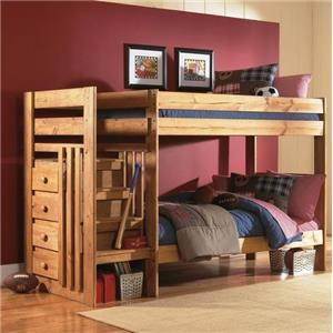 Twin over Twin Bunk Bed with Stairs and Drawers