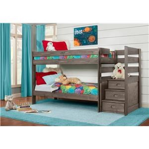 Twin over Twin Bunkbed with Staircase